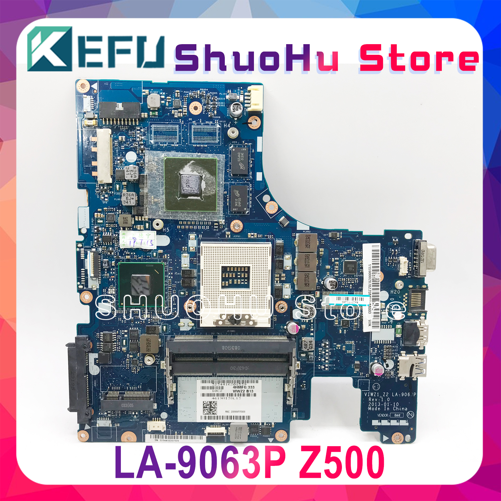 KEFU LA-9063P For Lenovo Z500 Laptop Motherboard VIWZ1-Z2 LA-9063P Z500 With GT740M Original Motherboard 100% Test Work