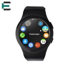 ET G3 MTK2502C Bluetooth Smartwatch Circular Completo SIM IP65 impermeable monitor de Ritmo Cardíaco reloj Inteligente reloj para IOS Android