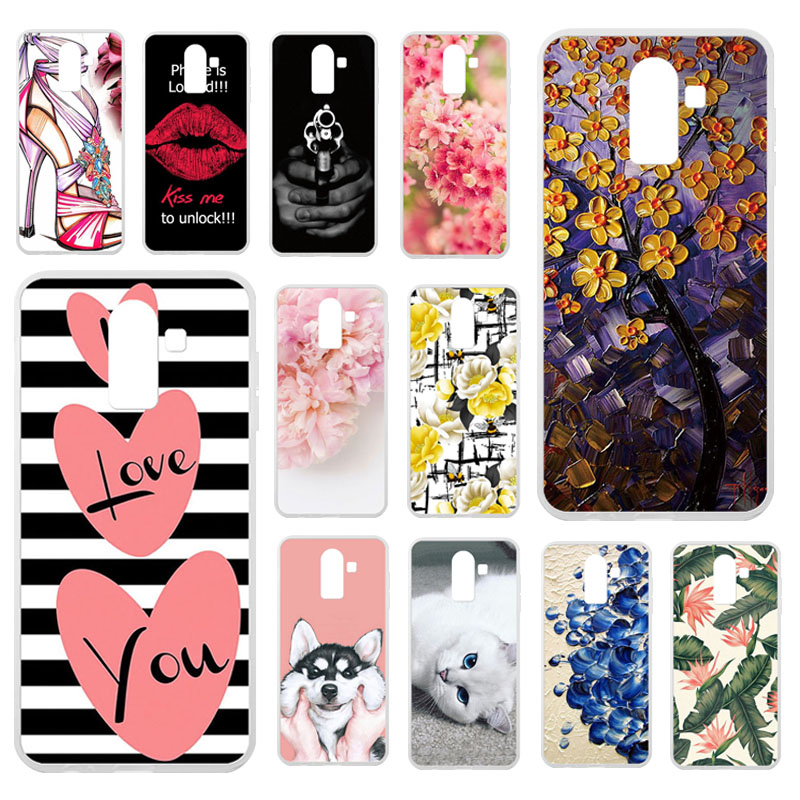 TAOYUNXI Cases For Samsung Galaxy <font><b>J8</b></font> 2018 Case For Samsung <font><b>J8</b></font> 2018 J810F/DS J810G/DS 6.0 inch Soft Silicone Covers Painted Bags image