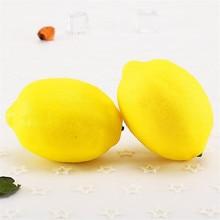 3 Pieces Creative Artificial Lemon PU Fake Decorative Fruits Cute Dining Table Decorations Simulation Lemons