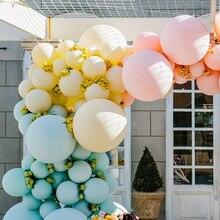 Bolas infláveis de macaron pastel de 12/18/36 polegadas, balões de arco íris de unicórnio para festa de aniversário, bolas infláveis
