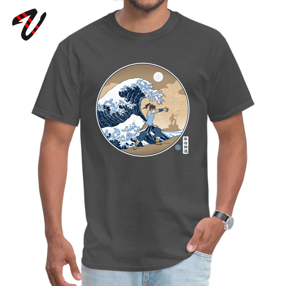 Men Hip Lovecraft Normal Tops Shirt O-neck Autumn Cotton Fabric T-shirt Funny Sloth Avatar Waterbender Great Wave Tee Shirts