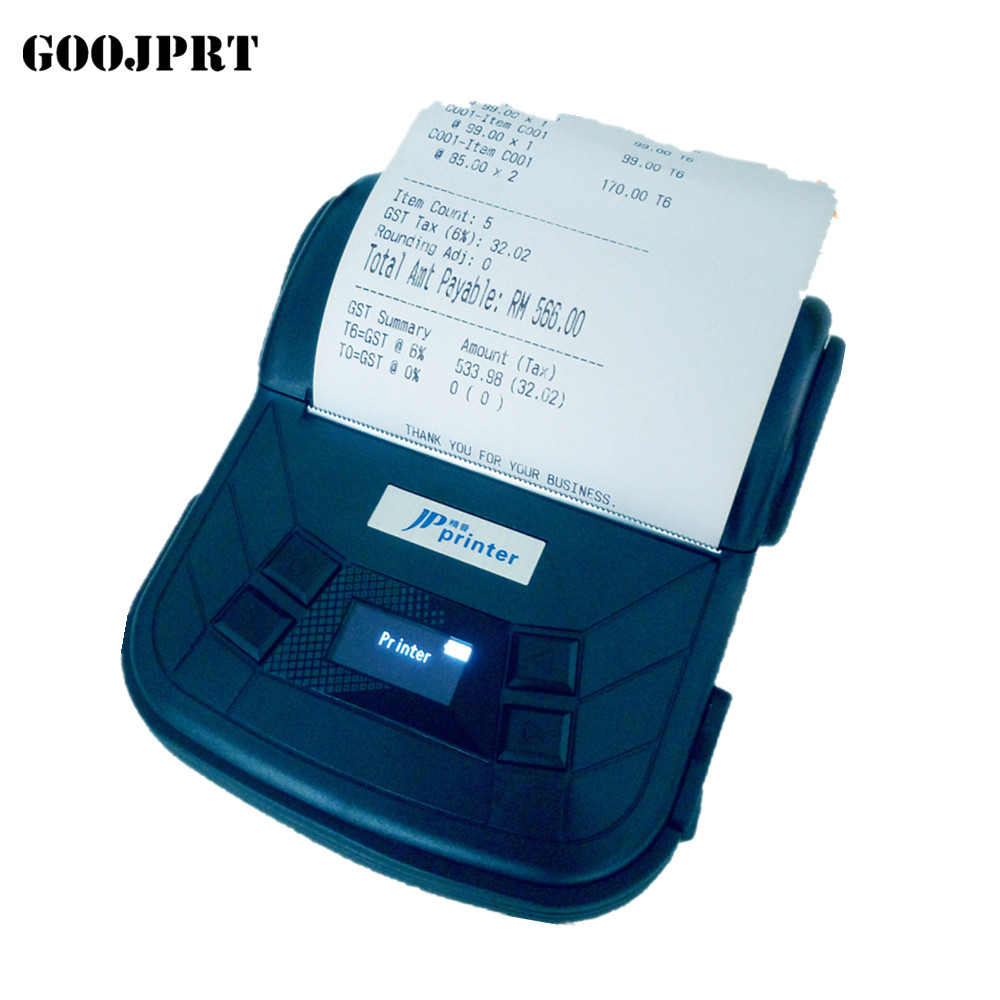 Gratis verzending 80mm mobiele printer Bluetooth printer label printer ondersteuning Android en IOS