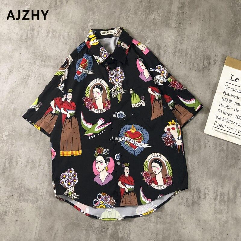 Ukiyo E Funny Girl 3d Printed Fashion Shirts Men Women Hawaii Tops Tees 2019 Summer New Design Casual Streetwear Hip Hop Shirt