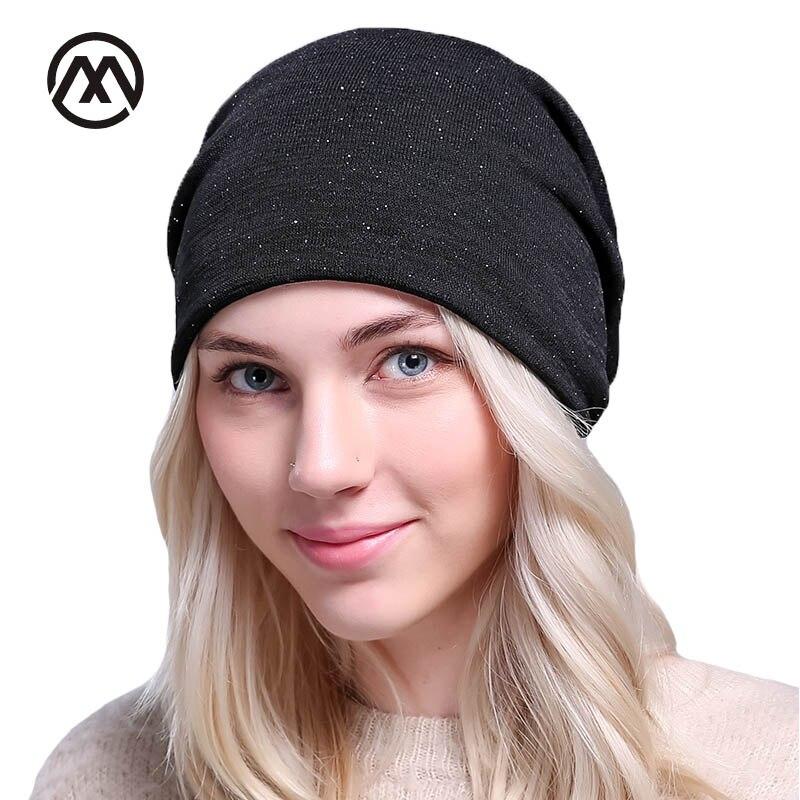 2017 Brand Fashion Autumn Winter Cap For Women Skullies Heap Hedging Cap Casual Stocking Bonnet Hat Female Ski Mask Speckle Cap skullies