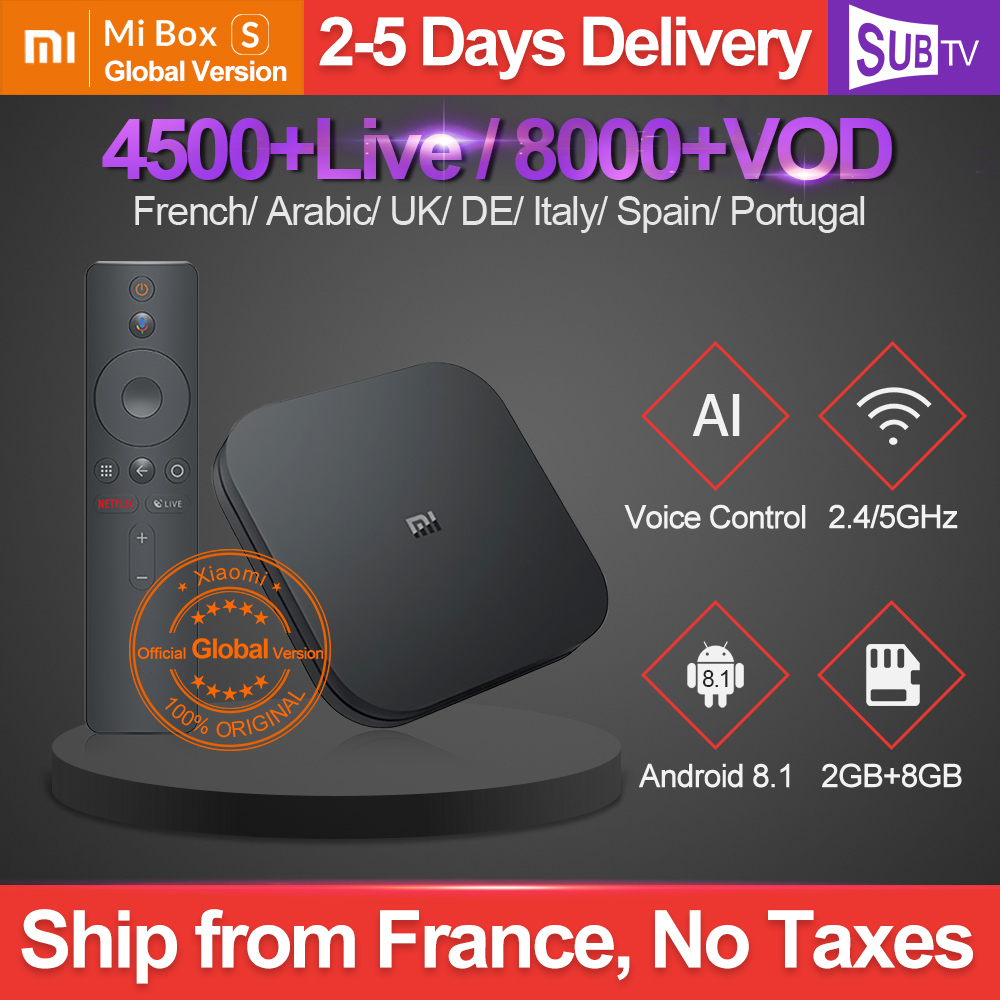 France IPTV Arabic 1 Year IPTV Italy Xiaomi MI Box S Android 8 1 2G 8G
