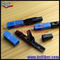 Wholesale 100pcs Lot SC Optic Fiber Quick Connector FTTH SC UPC Single Mode Fast Connector