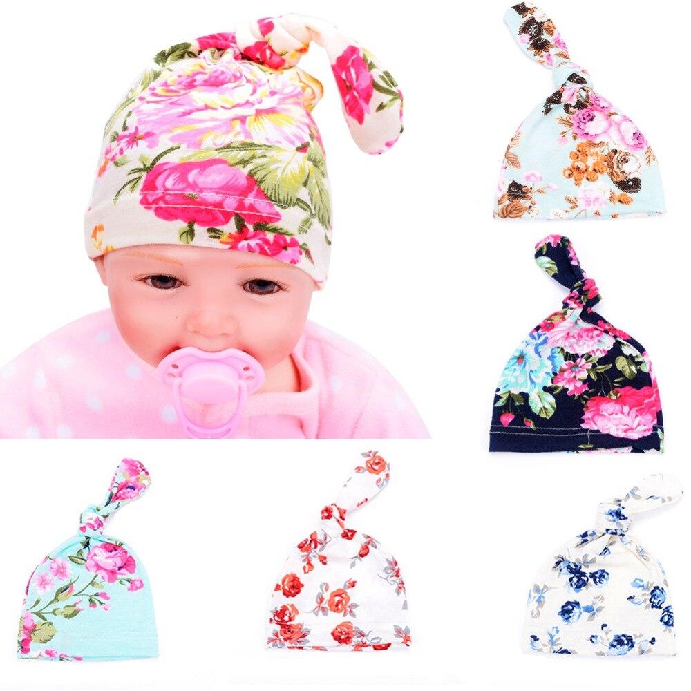 Newborn Baby Girls Sweet Hat Infant Big Flower Soft Cotton Hospital Cap Beanie Z