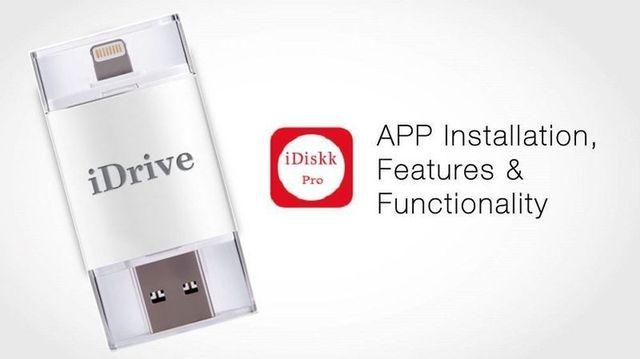 Idrive i-dispositivo flash 16 gb unidade relâmpago para usb otg para apple ios iphone ipad