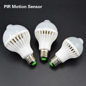 Image 5 - 3W 5W 7W 9W 12W E27 220V LED Bulb Smart Sound / PIR Motion Sensor LED lamp light Induction Stair Hallway Night light white