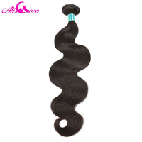 Ali Coco Hair Brazilian Body Wave Hair Extensions 1 Piece 10 28 inch 100% Remy Human Hair Bundles Natural Color Free Shipping
