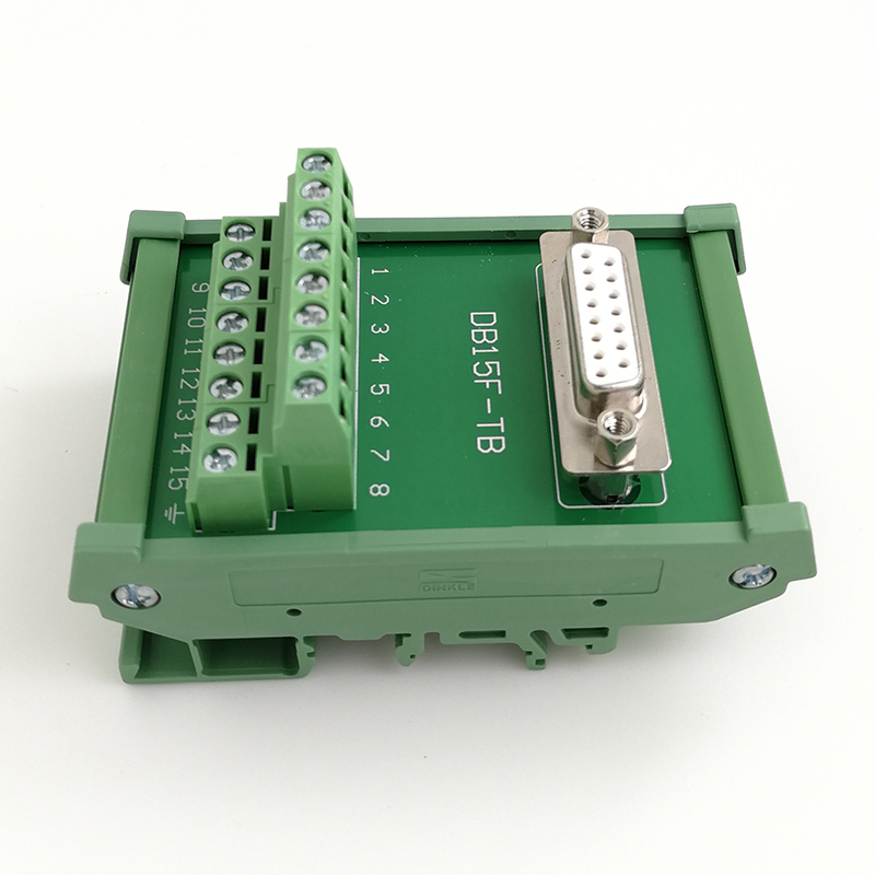 <font><b>DB15</b></font> <font><b>D</b></font> <font><b>Sub</b></font> Connectors Din Rail Terminal block Breakout Board Female image