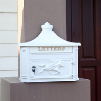 New Antique Wall Mounted Cast Aluminium Letterbox Victorian Postbox Mailbox