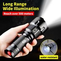 SHENYU Krachtige Tactische LED Zaklamp CREE XML-T6 Zoomable Waterdicht Torch voor 26650 Oplaadbare of Aa-batterij