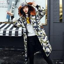 2017 Winter Jacket Women Hooded Thicken Coat Female Fashion Warm Outwear Down Cotton-Padded Long Wadded Jacket Coat Parka