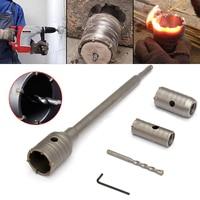 DWZ 30 40 50mm Carbide Tip Hole Saw Drill Bit Shaft Cutter Kit For Wall Brick
