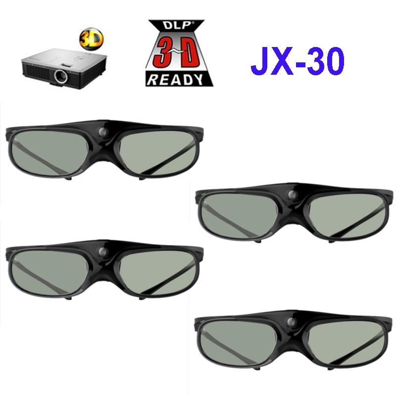 4pcs Active Shutter Rechargeable 3D DLP Glasses Support 96 144HZ For Xgimi Z3 Z4 H1 H2