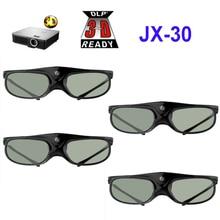 4 قطعة المصراع النشط قابلة للشحن 3D DLP نظارات دعم 96 144HZ ل Xgimi Z3/Z4/H1/H2 المكسرات G1/P2 بينكيو أيسر و DLP لينك العارض