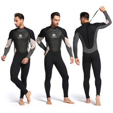 New 3mm One-Piece Close Body Neoprene Diving Suit Winter Long Sleeve Men Wetsuit Scuba Dive Spearfishing Snorkeling Suit цена и фото