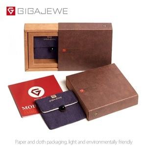 Image 5 - GIGAJEWE 0.3ct 4mm 라운드 컷 EF VVS1 Moissanite 925 실버 반지 다이아몬드 테스트 통과 패션 여자 친구 여자 크리스마스 선물