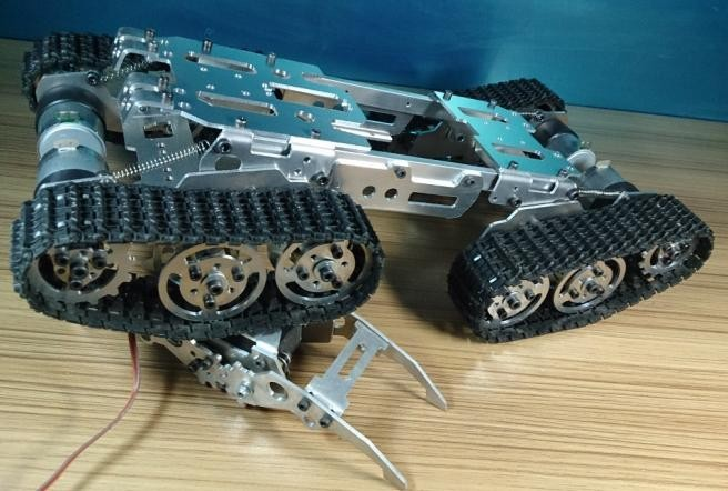 RC Metal Tracked Vehicle Track Obstacle-surmounting Tank Car Chassis Crawler 4WD Smart Tank Car Chassis Chain Caterpillar RC Toy rp5 rc crawler chassis tanks smart car power tracking tracing obstacle avoidance driver module tractor caterpillar wireless