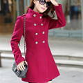 2016 New Hot Sale Spring Coat Windbreaker Women Winter Women's Cultivating Solid Colour Long Sleeved Coat for Fashion Tops D186
