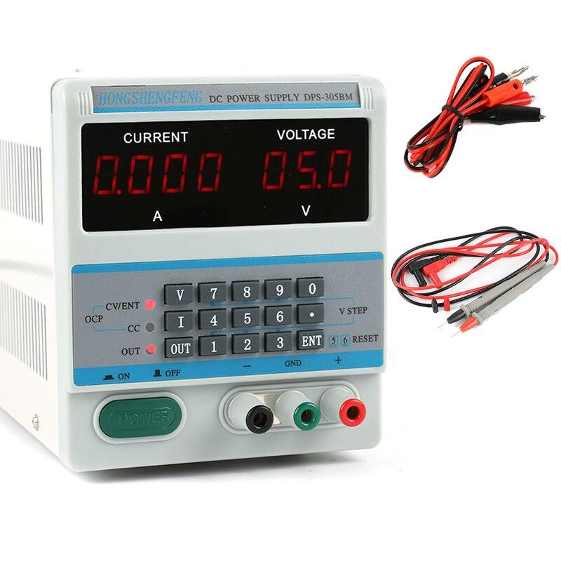 ДПС 305BM лаборатория Регулируемый программируемый DC Питание 30 В 5A 0.1 В 0.001A цифровой Дисплей для телефона/Ремонт ноутбуков
