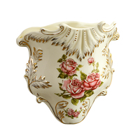 Yolife Vintage Ceramic Wall Vase Flower Hanging Vase Accessories for Decoration Gift