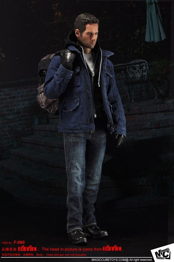 1/6 Male Clothing Set Jackets Pants Boots Accessories F-060 Burglar Outfit Sets for 12 Male Action Figure