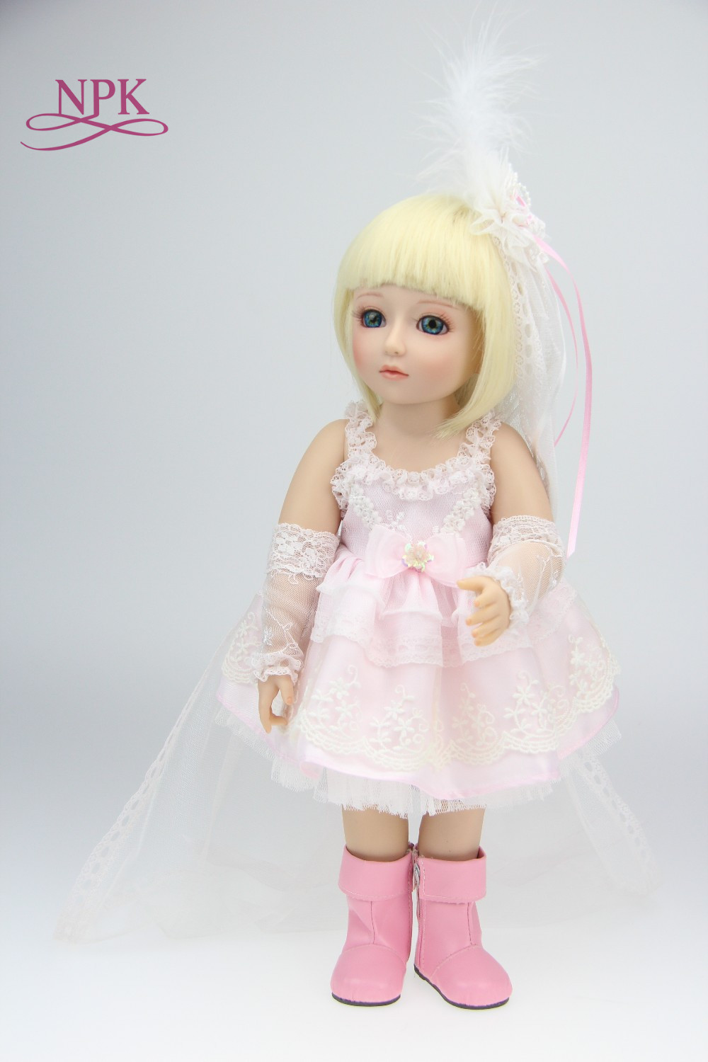 NPK 45CM BJD Doll Princess Doll Reborn Baby Alive Toys for Girls Gifts 18 Inch Girls Dolls vinyl Toy Dolls for Kids Brinquedos new 18 american girl doll toys with full vinyl body princess baby toy dolls for girls brinquedos kids birthday christmas gifts