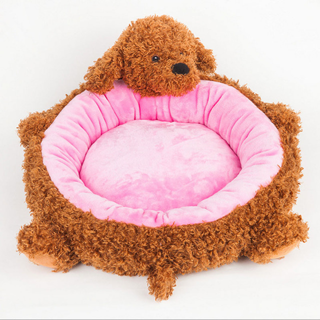 Cute Animal Shape Cartoon Pet Mats Dog Bed Sofa Puppy House Soft And Comfortable Teddy Kennel