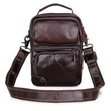 Man Crossbody Bag Cow Leather 2019 Vintage Small Business Travel Shoulder Tote Bags Men Real Leather Casual Ipad  Handbag цены онлайн