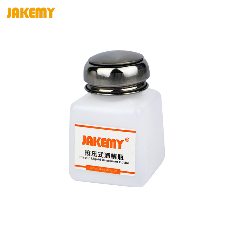 JAKEMY 120ML Portable Empty Alcohol Liquid Bottle Glue Residue Remover Dispenser Pump Bottle PCB Cleaning Tool