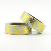 1X Foil leaves Washi Tape Colors Set Stationery Decorative Scrapbooking Christmas washi tape Scrapbook Paper