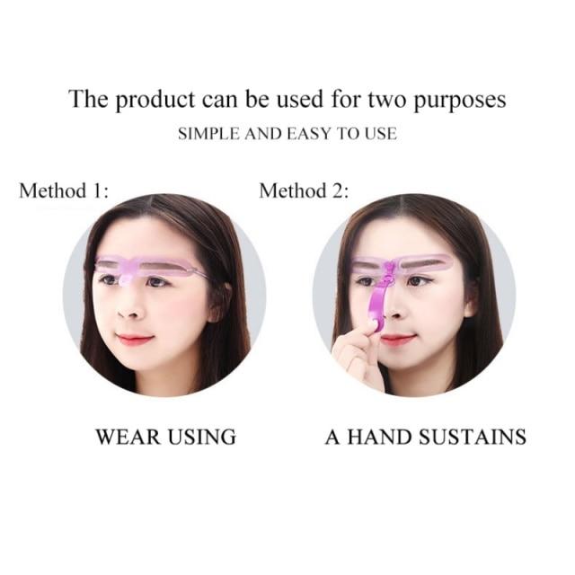 Reusable Eyebrow Model Template Eyebrow Shaper Defining Stencils Makeup Shaper Set Template Tools 4