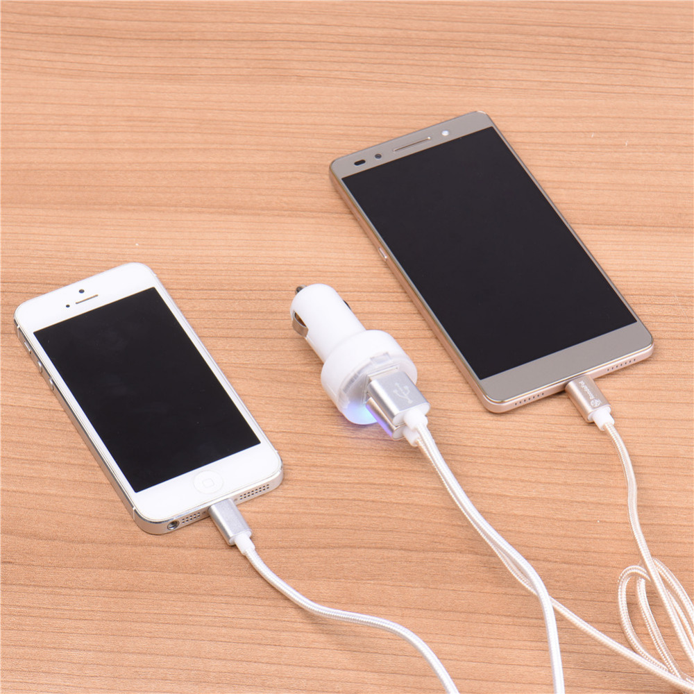 2016 Mini USB Car Phone Charger for iPhone 5 5s 6 6s Car-Charger Adapter for Samsung HTC Android Tablets Phone Charger Adapter image