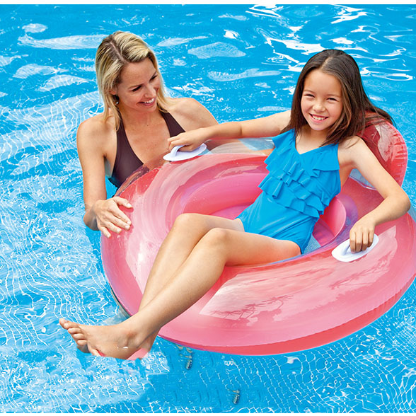 Portable Summer Safety Swimming Ring Inflatable Swim Float Water Fun Pool Toys Swim Ring Seat Boat Water Sport|Swimming Rings| |  - title=