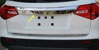 For Suzuki Vitara Escudo 2015 2016 Car External Stainless Rear Trunk Lid Cover Around Logo Tail Gate Trim Car Styling Accessory