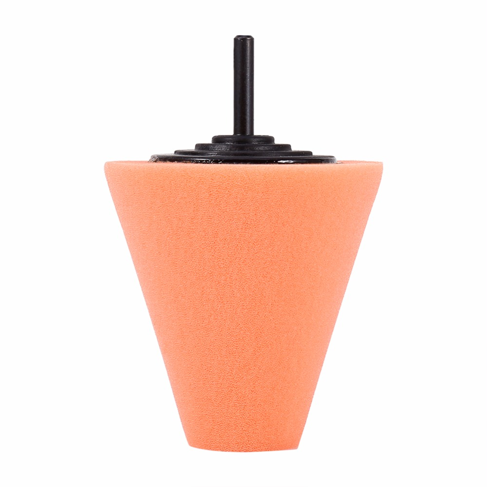 1PCS Sponge Cone Metal Polishing Foam Pad Wool Buffing Burnishing Polishing Ball Car Wheel Hub Care Buffing Tool