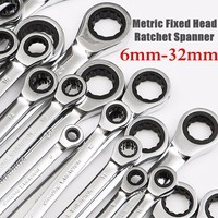 8-18mm Ratchet Combination Metric Wrench Set Hand Tools for Nut Tool Torque and Gear  Ring Wrench Set  and A Set of Wrench