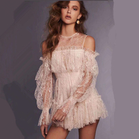 High Quality 2018 Summer Off The Shoulder White Solid Lace Slash Neck Ruffle Ruffles Jumpsuit Romper Women
