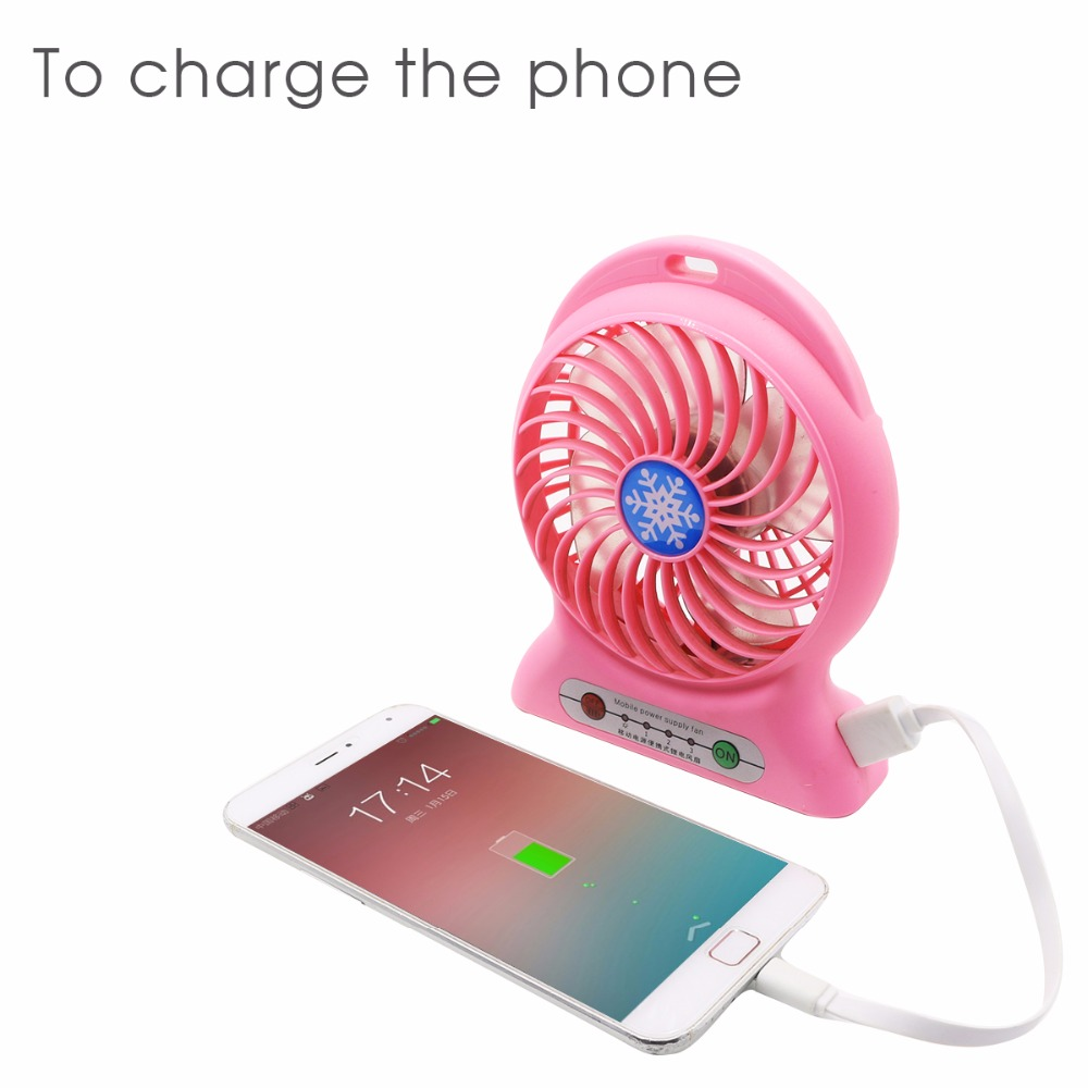 Yfw Mobile Power Supply Fan 2200mah Rechargeable 18650 Portable Kipas Powerbank Pb Minifan Bank Desktop Summer Cooler With 3 Speed Usb Cable In From Cellphones