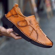 Men Casual Driving Shoes Men Genuine Leather Loafers Shoes Fashion Handmade Soft Breathable Moccasins Flats Slip on Footwear C4 цена