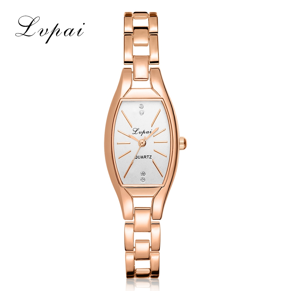 LVPAI High Quality Luxury Watch Gold Ellipse Casual Alloy Quartz WristWatches Women Brand Fashion Women Dress Watches Clock free shipping one pair copper colour aluminum alloy copper us power plug iec plug for power cable