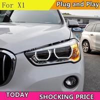 2 Ps Car Headlights For BMW X1 Headlight 2016 2017 2018 x1 Head lamp LED ALL LED Headlight Daytime Running Light DRL Bi LED LENS