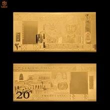 Oman-20 Rial Omani chapado en oro de 24k 999, producto más vendido, colección de regalo de recuerdo falso