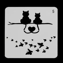 Macskák Pillangó rétegező szalagok falakra Festés Scrapbooking Pecsételő bélyegek Album Dekoratív dombornyomás Papír kártyák