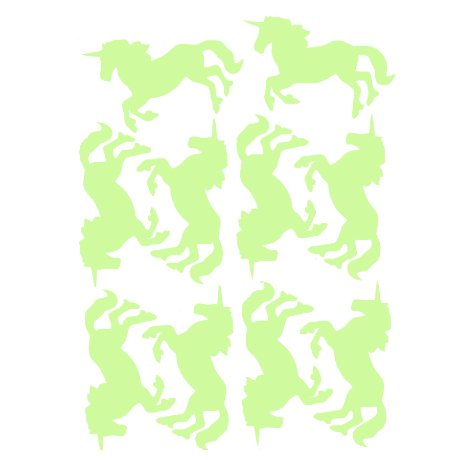 Unicorn Wall sticker DIY poster Luminous Stickers wall stickers fluorescent wall stickers for kids rooms home decor wall decals