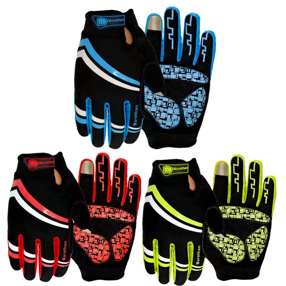 New 3 Color Bike Bicycle gloves Cycling Gloves Bicycle Motorcycle Sport Gel Full Finger Touch Screen Outdoors Gloves