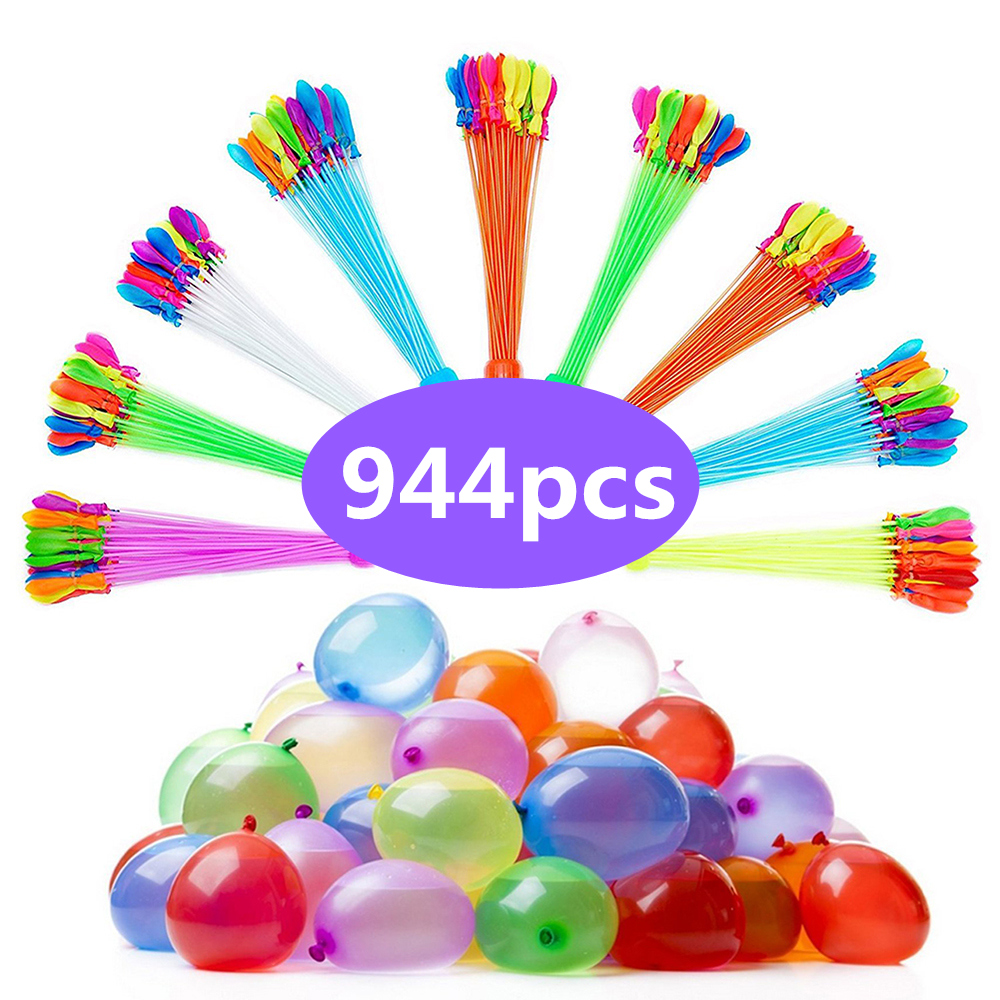 944pcs Instant Filling Water Balloons with refill package Funny Summer Outdoor Toy Water Balloons Bombs best Toys For Children 3 beam of balloons colorful magic water balloons outdoor recreation and water play toys